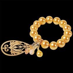 Bracelet ajustable - de Fête doré