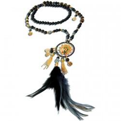 Sautoir - Dreamcatcher noir, L. 90 cm