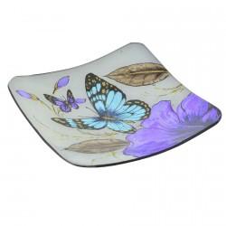 Plateau - Papillon, L. 20 cm