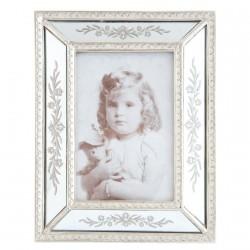 Cadre Photo - argenté, H. 22 cm