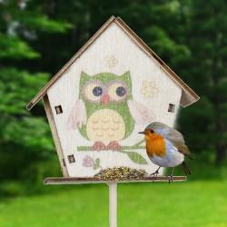 Mangeoire - Maison d'oiseau, H. 30 cm