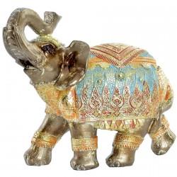 Figurine - Eléphant Doré, H. 13,3 cm