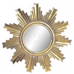 Miroir - Soleil Vieilli Doré, ø 60 cm