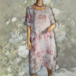 Robe - Renoir : Fleurs blanches ML, TU