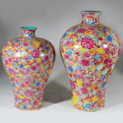 Vase - Meiping Floral, H. 42 cm