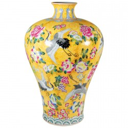 Vase - Meiping Qing jaune, H. 55 cm