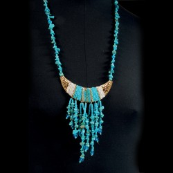 Parure - Toutânkhamon Plastron Turquoises