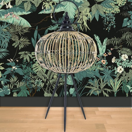Lampadaire - Bambou, H. 90 cm
