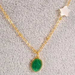 Chaîne - Médaille Vierge Verte