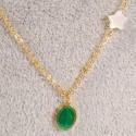 Chaîne - Médaille Vierge Verte, L. 42 cm