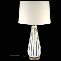 Lampe de Table -Murano blanche, H. 75 cm