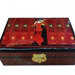 Boite à Bijoux - Geisha rouge, L. 21 cm