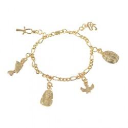 Bracelet - Egypte : Breloques, L. 21 cm