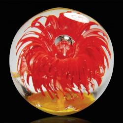 Presse-papier - Sulfure Nautilus orange, ø 8 cm