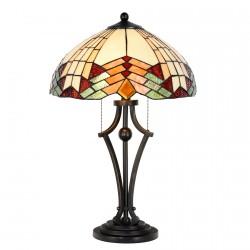Lampe de Chevet - Style Tiffany : Art Déco, H. 60 cm