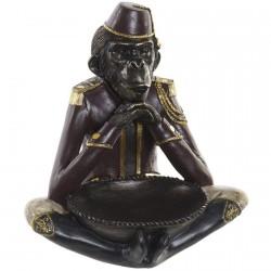Sculpture - Singe en Méditation, H. 28 cm