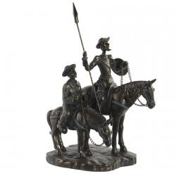 Statuette - Don Quichotte à Cheval, H.28 cm