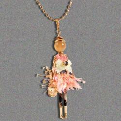 Pendentif - Parisienne rose, H. 10 cm