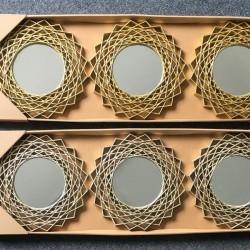 Miroirs Soleil Argent  - Set de 6