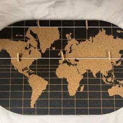 Décor Mural - Panneau Planisphère, L. 55 cm