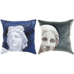 Coussin Grèce Antique - Bleu