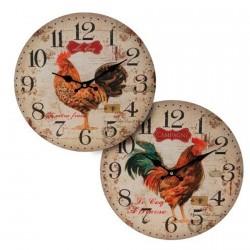 Horloge - Vintage : Coq, ø 34 cm