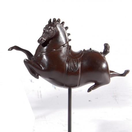 Sculpture - Cheval Tang : Céleste B, H. 23 cm