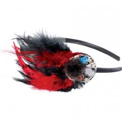Serre-Tête Belle Epoque rouge, L. 15 cm