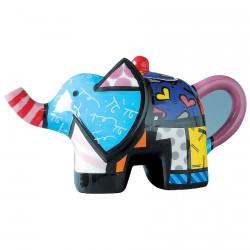 Théière céramique - Romero Britto : Eléphant, H. 9 cm