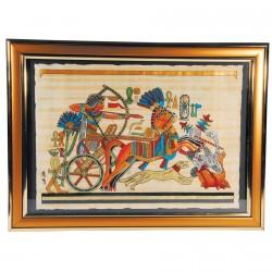Papyrus - Séqénenrê Taâ : Chasse sur son Charot, L. 50 cm