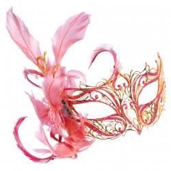 Masque Civette - Toupet rouge, L. 20 cm