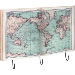 Porte-Manteau - Planisphère, L. 55 cm