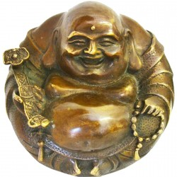 Sculpture bronze - Bouddha de la Prospérité, ø 8 cm