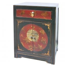 Table de Chevet - Lhassa noir, H. 60 cm