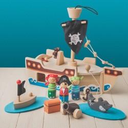 Jouet - Bateau de Pirate, L. 32 cm