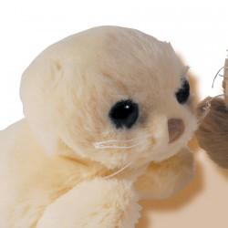 Peluche - Petit Phoque Hoover blanc, L. 18 cm