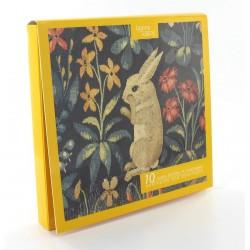 Cartes Postales - Dame à la Licorne : Lapin (Set de 10), L. 14,2 cm