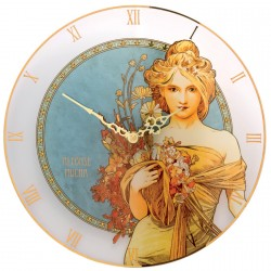Horloge - Mucha : Le Printemps, ø 30,5 cm