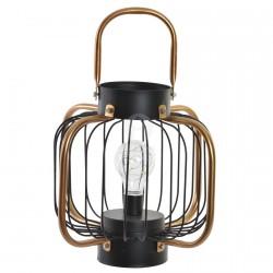 Lampe à Poser - LED Lanterne Noire, H. 24,5 cm
