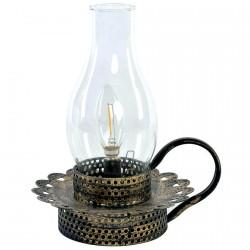 Lampe à Poser - LED Vieilli Noir, H. 25 cm