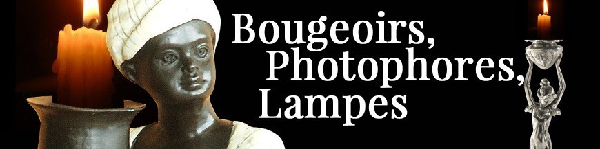Bougeoirs, Photophores, Lampes